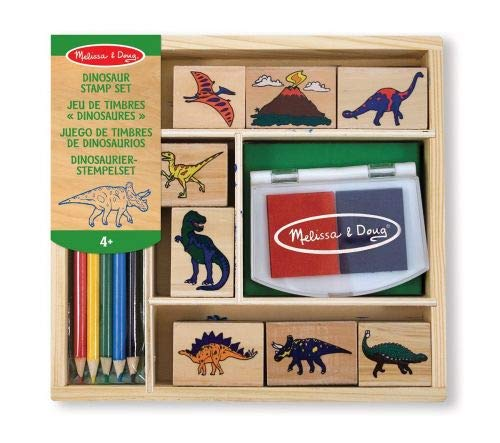 7 Pack MELISSA & DOUG DINOSAUR STAMP SET