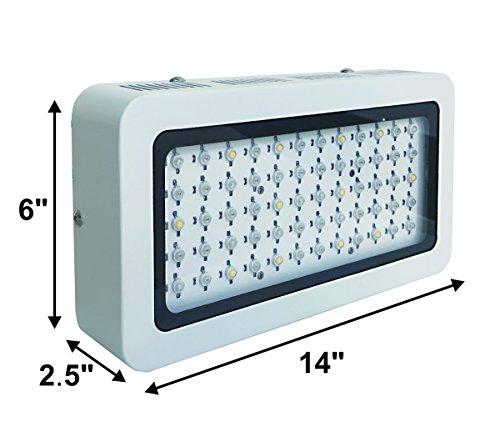 TopoLite 300W/ 600W/ 800W/ 1200W Full Spectrum LED Grow Light + Multiple Size Grow Tent Dark Room Indoor Hydroponic System Kit (LED 300W, 24''x24''x48'' D-Door) by TopoLite (Image #6)