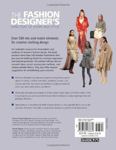 The Fashion Designer S Directory Of Shape And Style Over 500 Mix And Match Elements For Creative Clothing Design Travers Spencer Simon Zaman Zarida 9780764138669 Amazon Com Books