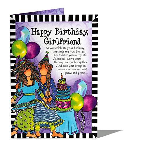 Blue Mountain Arts Birthday Greeting Card (Happy Birthday, Girlfriend) (Happy Birthday Card My Best Friend)