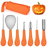 Professional Pumpkin Carving Kit,7 PCS Victostar Reusable Sturdy Stainless Steel Pumpkin Carving Tools Set for Kids and Adults For Sale