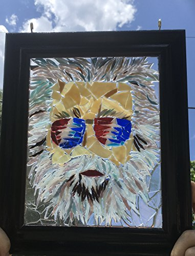 Jerry Garcia stained glass window art suncatcher by Mountain Mosaics (Image #3)