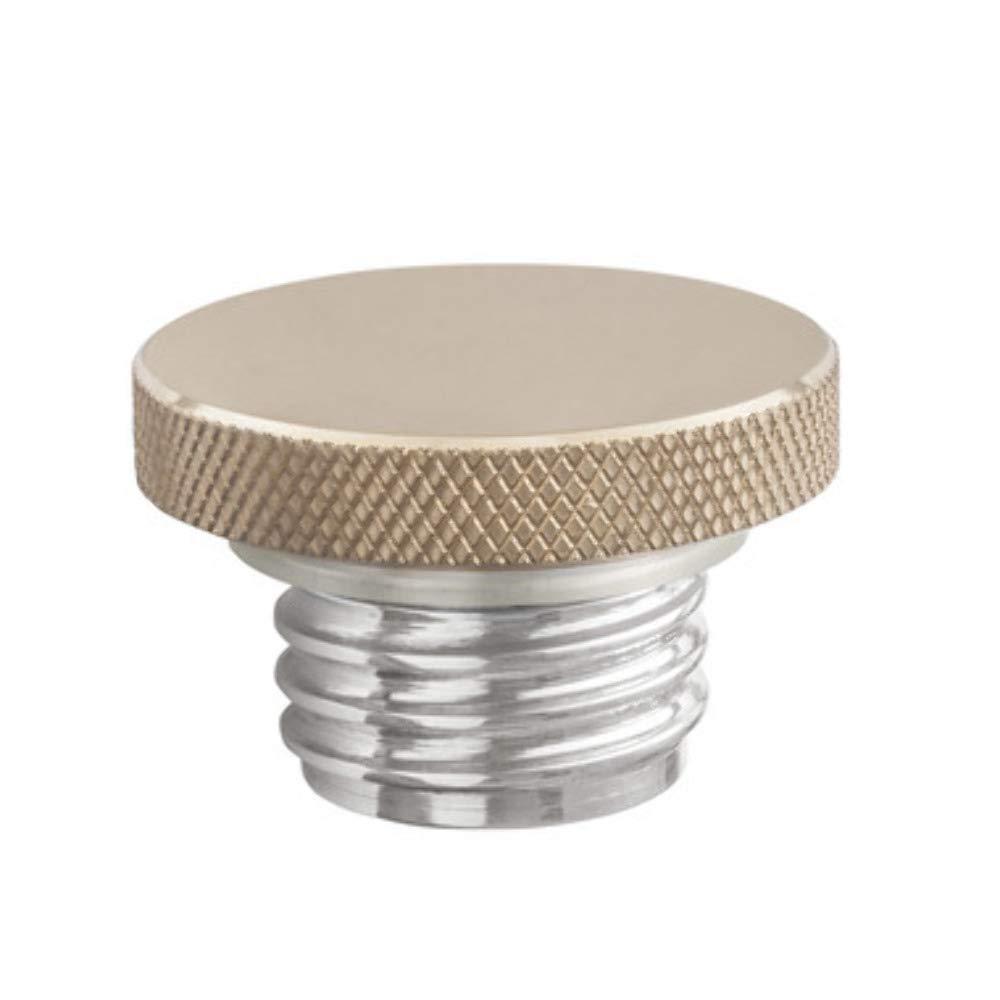 Custom Gas Cap - Brass Rippled Top - Aluminum Thread - Vented by Motone