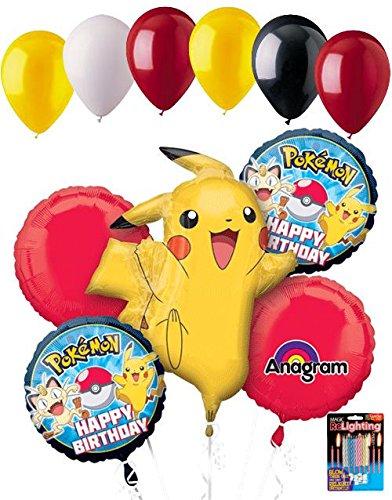 Amazon.com: 11 pieza Pokemon Pikachu Globo Ramo Fiesta ...