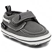 Nautica Tiny River 2, Baby Prewalker,Velcro Crib Sneakers,Soft Sole Shoes-GREY-1