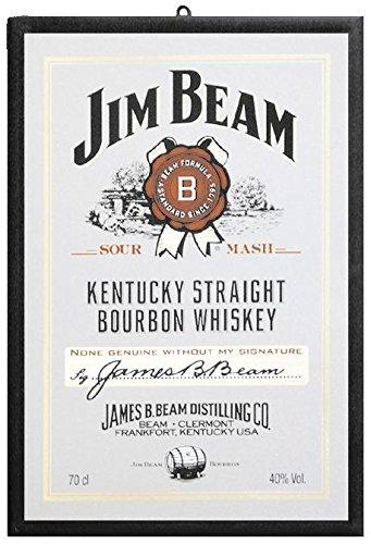 Close Up Espejo Decorativo con Impresió n Jim Beam - Signature/Logo (22cm x 32cm)