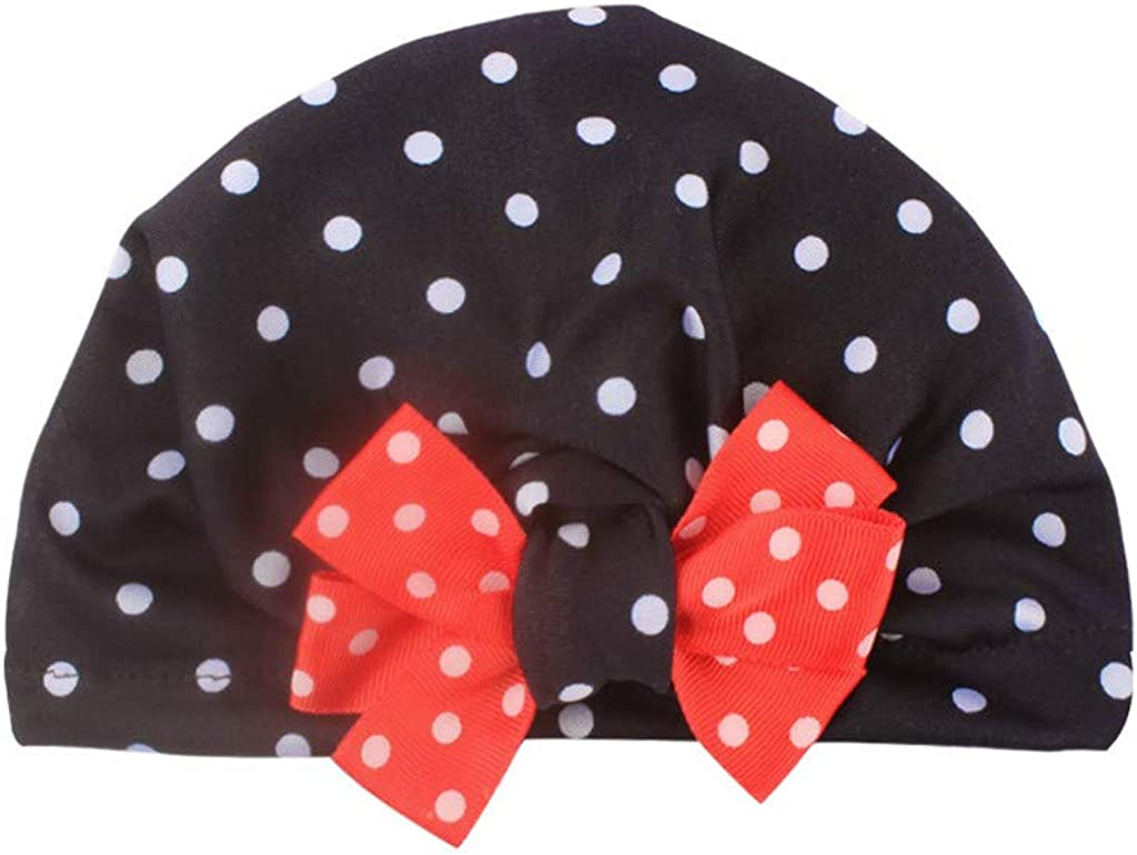 AMhomely Sale Newborn Baby Boy Girl Baby Sun Hat Floral Bowknot Cap Toddler Turban Photo Props Winter Baby Hats for Kids 0-8 Years