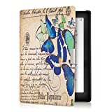 kwmobile Case for Kobo Aura Edition 1 - Book Style PU Leather Protective e-Reader Cover Folio Case - blue mint beige