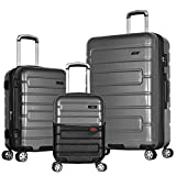 Olympia Nema 3-Piece Exp. Hardcase Spinner Luggage Set with Tsa Lock