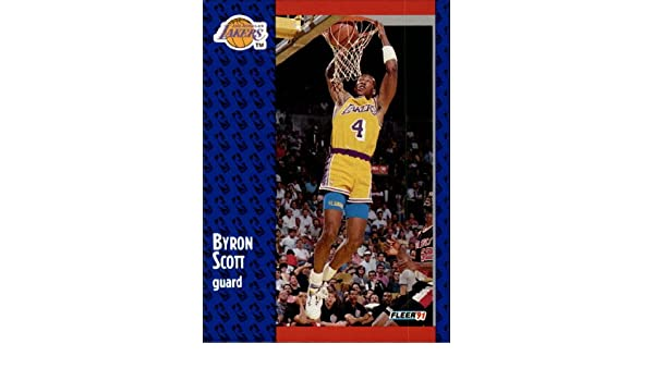 a80027b2c22 Amazon.com: 1991 Fleer Basketball Card (1991-92) #102 Byron Scott Mint:  Collectibles & Fine Art