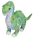 Wild Republic Glitter Dinosaurs, Diplodocus Plush Stuffed Animal Toy, Gifts for Kids, 21""