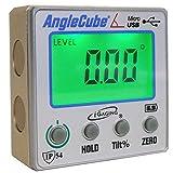 iGaging Angle Gage BACKLIT Digital Electronic Magnetic Level/Protractor/Bevel Gauge Angle Cube Gen 3