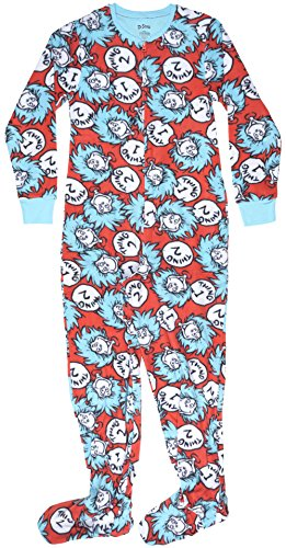 Dr. Seuss Thing 1 and 2 Womens Union Suit in Red/Blue