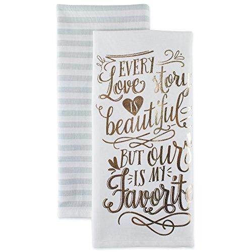DII Cotton Love Story Dish Towels  Perfect Wedding, Housewar