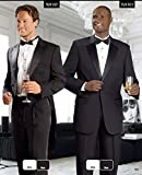 E.J. Samuel Mens 2 Piece Black Tailcoat Tuxedo Mens Suit TUX107 Black Parade