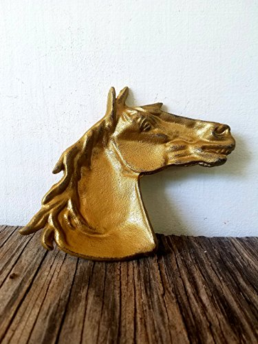 - Gold Southwestern Horse Trinket Dish - Men's Western Home Decor - Unique Rustic Office Organizer