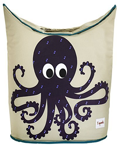 3 Sprouts Laundry Hamper, Octopus, Purple by 3 Sprouts