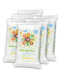 Babyganics Face, Hand & Baby Wipes, Fragrance Free, 240 Count (Contains Six 40-Count Packs) BOBEBE Online Baby Store From New York to Miami and Los Angeles