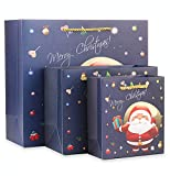 Lalago 15 Packs Bags with Assorted Christmas Prints for Kraft Bags, Christmas Goody Bags, Xmas Gift Bags, School Classrooms and Party Favors