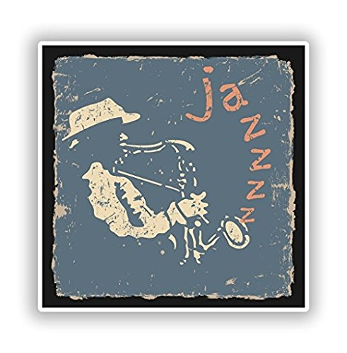 (Jazz Vinyl Stickers - Sticker Graphic - Sticks to Any Smooth Surface - Cars, Walls, Cellphones, Laptops,)