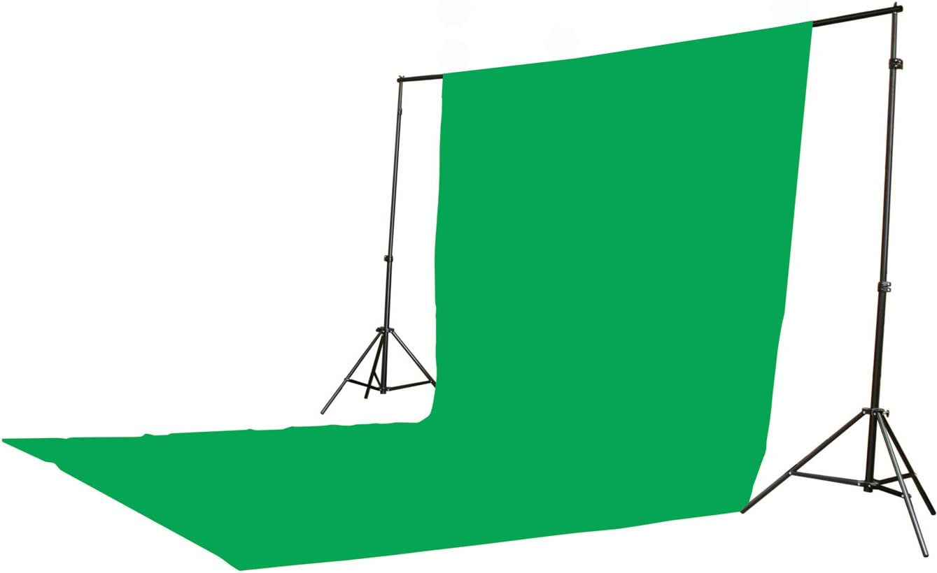 ePhoto 2400 Watt Continuous Video Photography Studio Chromakey Green Screen Lighting Kit H9004S3-1020G