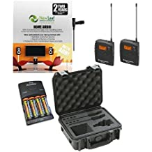 Sennheiser EW112PG3A Wireless Microphone Kit with extra batteries and SKB iSeries case