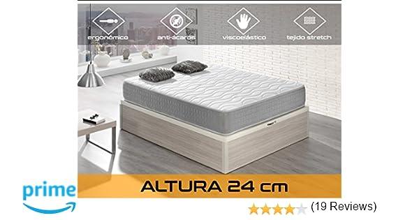 Dormi Premium Silver 24 Colchón Viscoelástico, 90 x 200 x 24 cm, Algodón/Poliuretano, Blanco/Gris, Individual: Amazon.es: Hogar