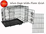 Homey Pet-Economic 36″ Wire Folding Dog Pet Cage with Pull Out Tray and Floor Grid (W/ Grid , 36″) Review