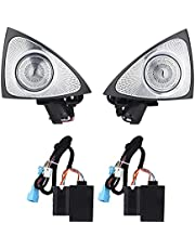 Rotating Tweeter,64 Color 3D Rotating Tweeter with LED Ambient Lighting Replacement for Benz E‑Class W213 2017‑2021