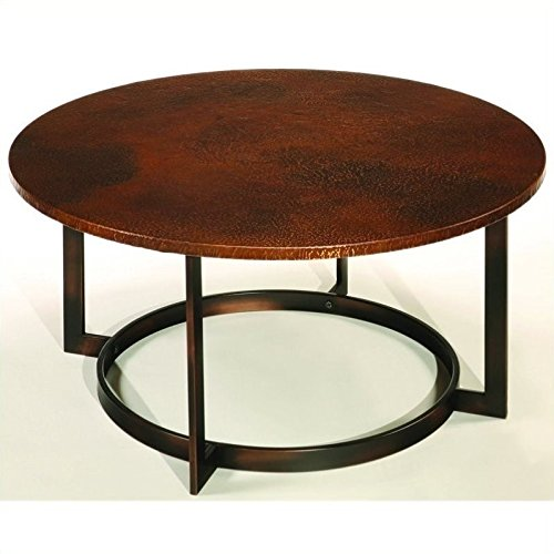 Beaumont Lane Round Cocktail Table in Copper (Top Round Copper Table)