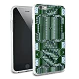 Empty Circuit Board Design Protective Slim Hybrid Rubber Bumper Case for Apple iPhone 6 6s Plus (FITS PLUS MODEL ONLY)