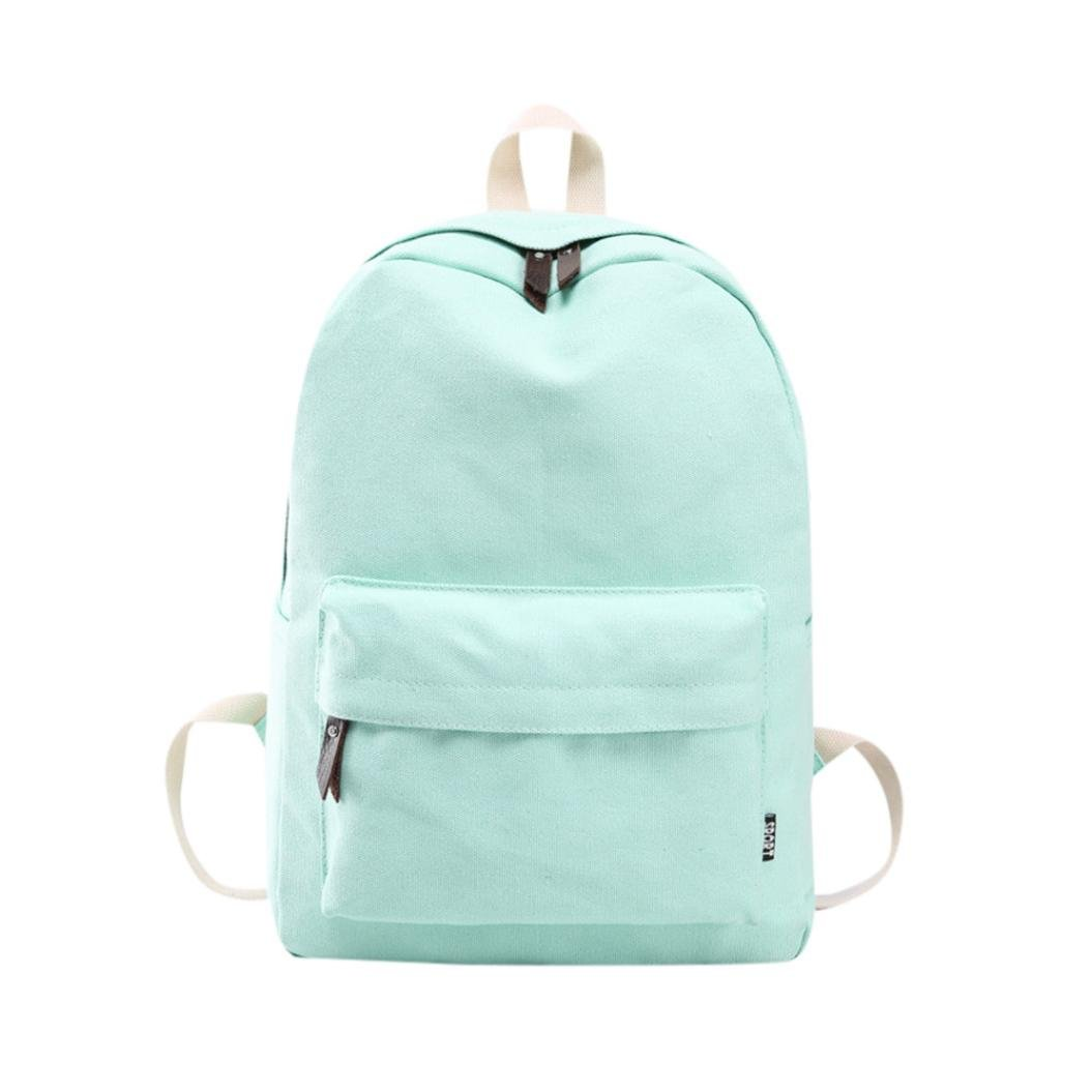 Clearance Sale! Women Girls Canvas Preppy Shoulder Bookbags School Travel Backpack Bag ❤️ ZYEE