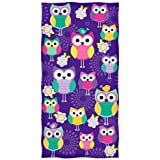 Owl Design Beach Towel by Dawhud Direct