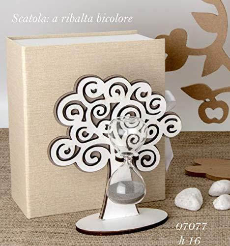Albero della vita legno con clessidra da 16 cm in scatola regalo Subitodisponibile