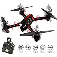 HIOTECH Brushless Drone Bugs Series Brushledd GPS WiFi 1080P Camera Drone with Long Flying time & LED Light Assist Night Flight (Black)