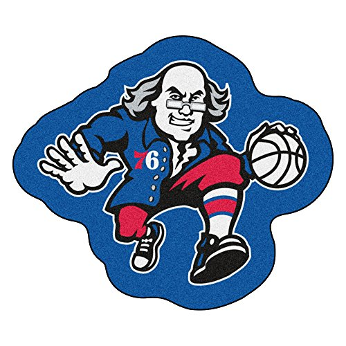 FANMATS 21353-Fanmats Team Color One Size NBA - Philadelphia 76ers Mascot Mat