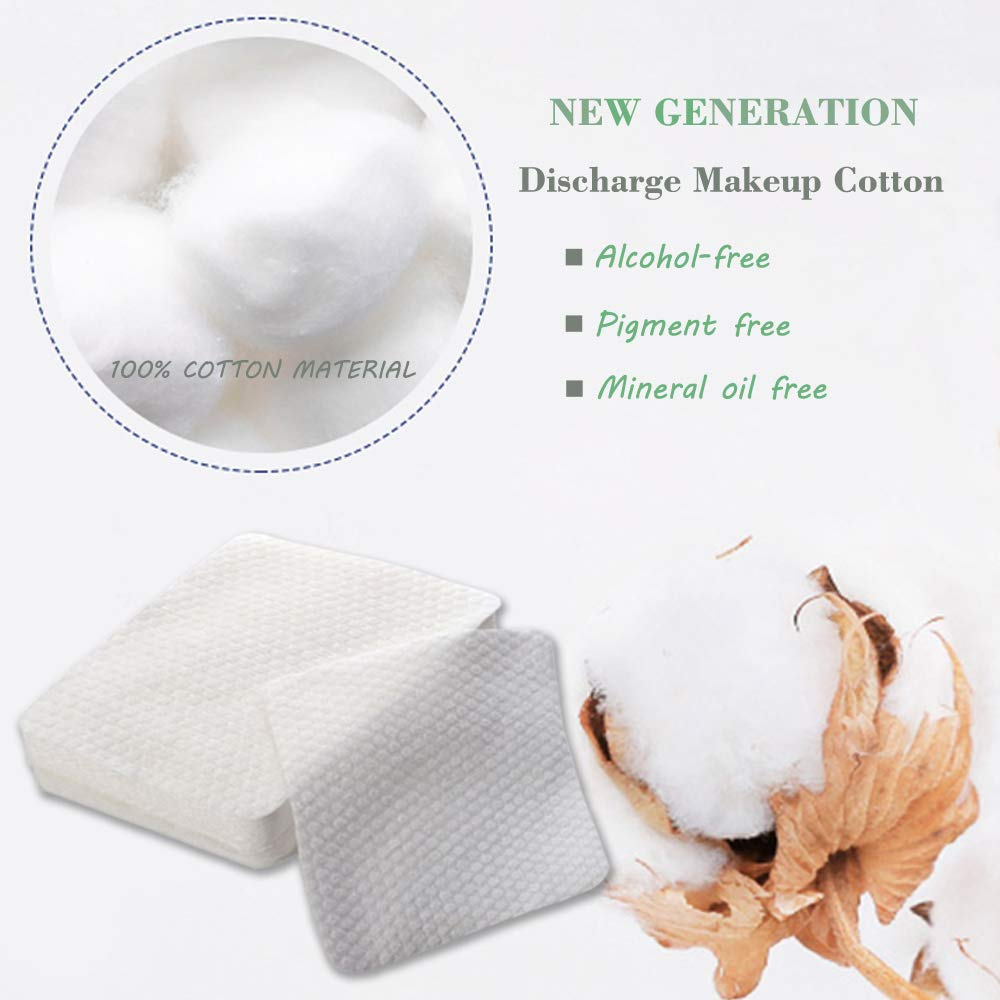 Cleansing Cotton, 80Pcs Non-woven Makeup Remover Cotton Pads Multi-purpose Makeup Remove Wipes Face Cotton Squares Pad Cotton Makeup Remover