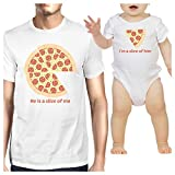 365 Printing Slice Of Me Slice Of Him Funny New Dad Gift Matching Shirts Cotton
