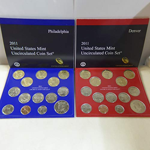 2011 United States Mint Uncirculated Coin Set 28 coin set P and D mints. Uncirculated