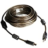 USB 2.0 - A-Male to B-Male Printer Cable - 32 Feet (10 Meters) High Speed Printer/Scanner / Repeater Cable