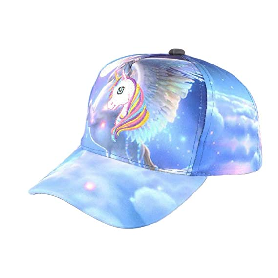 nouvelle collection qualité fiable styles classiques Casquette Baseball Enfant Licorne Bleue Fashion Lolie ...