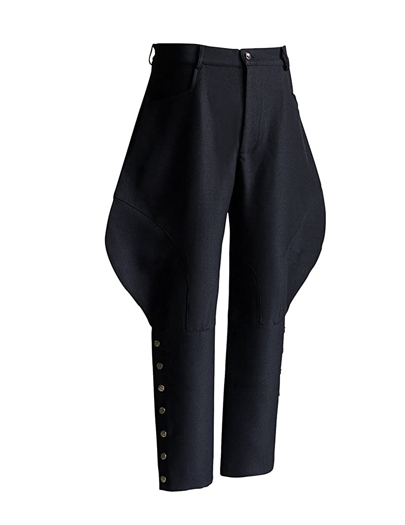 Steampunk Pants Mens Wide Thigh Riding Breeches $100.00 AT vintagedancer.com