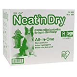 IRIS 301885 Neat N Dry Floor Protection and Training Pads for Puppies and Dogs, 200-Count