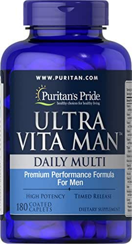 Puritans Pride Ultra Vita Man Time Release, 180 Count