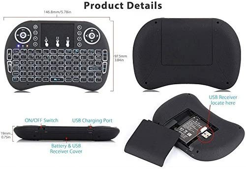 Browser for Sony/ BRAVIA KD65XG8796BU 65 Remote Control for YouTube Black Wireless Mini Keyboard /& Mouse Easy Control