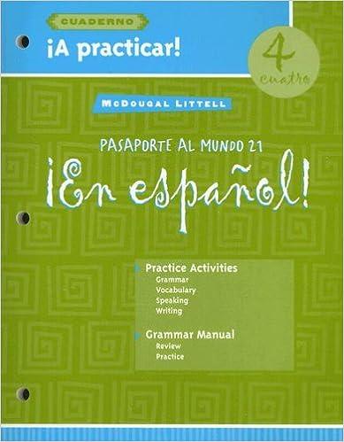 Amazon.com: ¡En español!: íA practicar! cuaderno (Workbook) Student ...