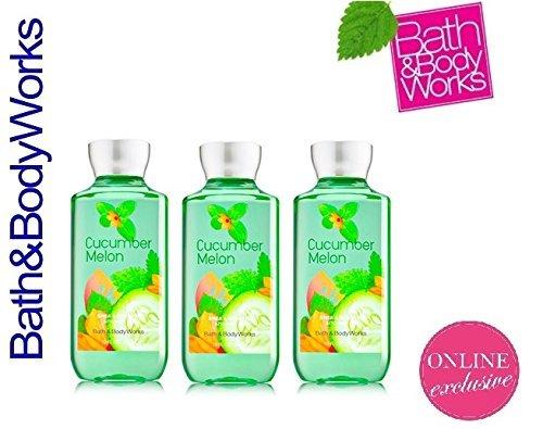 x3 Bath and Body Works Cucumber Melon Shower Gel Original Set