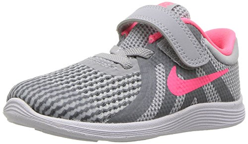 Nike Girls' Revolution 4 (TDV) Running Shoe, Wolf Racer Pink-Cool Grey-White, 3C Toddler US Toddler (Girls Size 3 Nike Shoes)