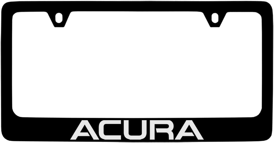 Acura Logo Black Metal license Plate Frame Holder