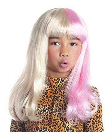 Two Tone Diva Child Wig Party King 2 Tone Diva Wig Blonde/Pink Party King- Toys WG579C